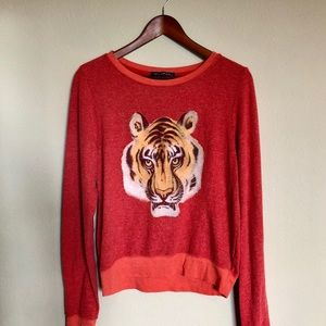 Wildfox• Red Tiger Sweater